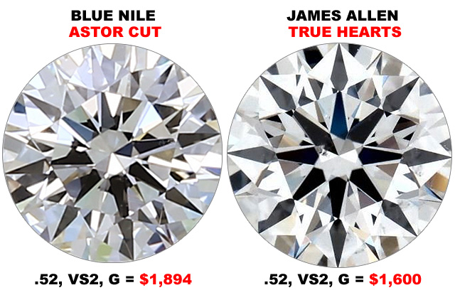 Compare Astor Cut To True Hearts Diamonds