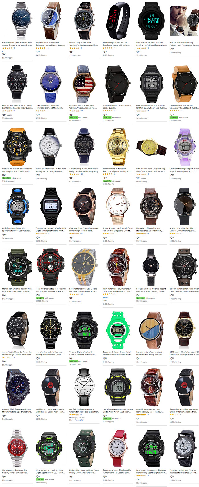 Mens Wrist Watches For One Penny