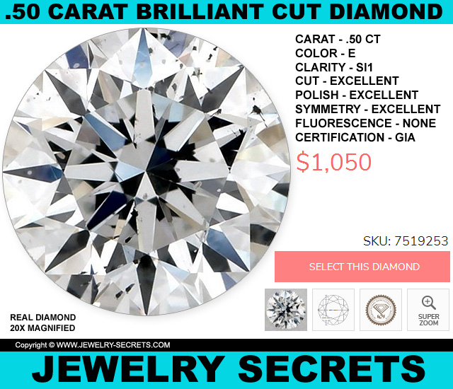 The Cheapest Good Looking Half Carat Round Brilliant Cut Diamond Right Now