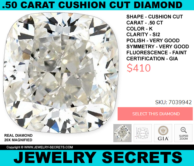 The Cheapest Half Carat Diamond Right Now