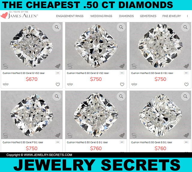 The Cheapest Half Carat Diamonds On The Web