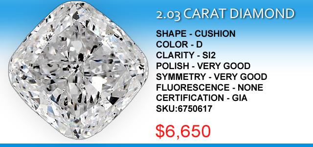 2 Carat Cushion Diamond Deal