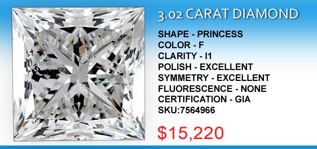3 Carat Princess Diamond Deal