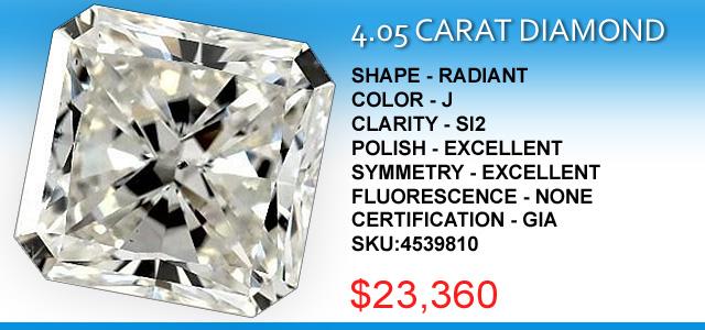 4 Carat Radiant Diamond Deal