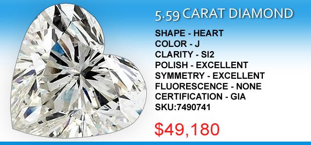 5-59 Carat Heart Cut Diamond Deal