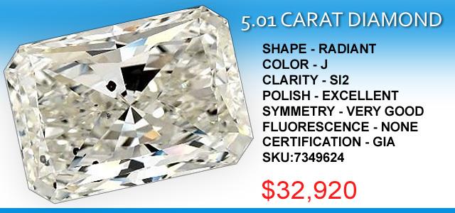 5 Carat Radiant Diamond Deal