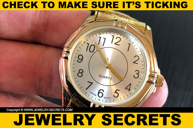 Check To Make Sure Watch Is Ticking