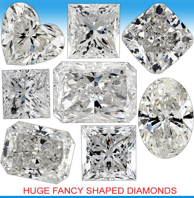Huge Fancy Shaped Diamonds