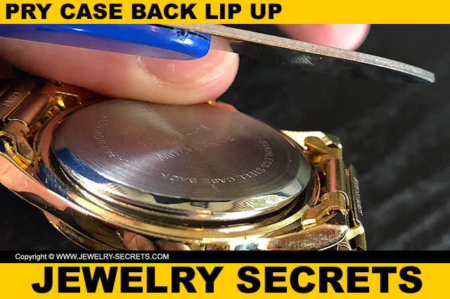 Pry Watch Case Back Lip Up