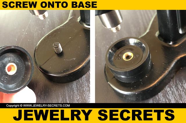 Screw Watch Case Die Into Press Base