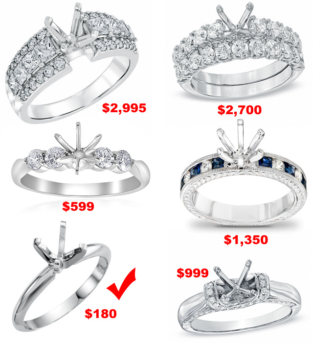 The Price Of Engagement Ring Mountings