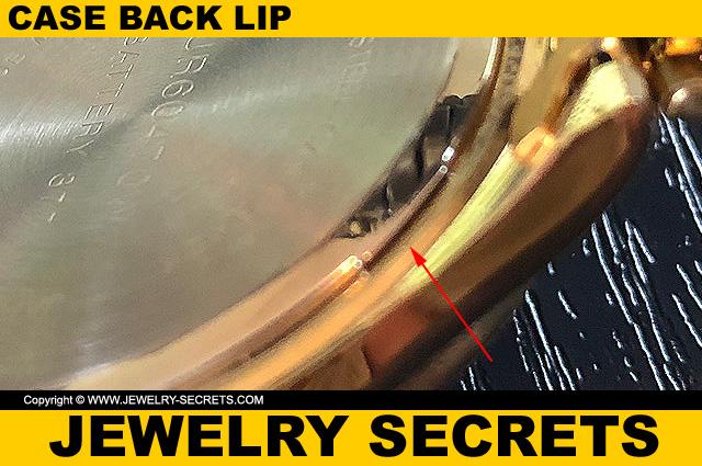 Watch Case Back Lip