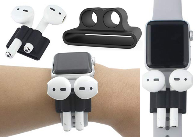 Airpod Holder Apple Watch Silicone Straps
