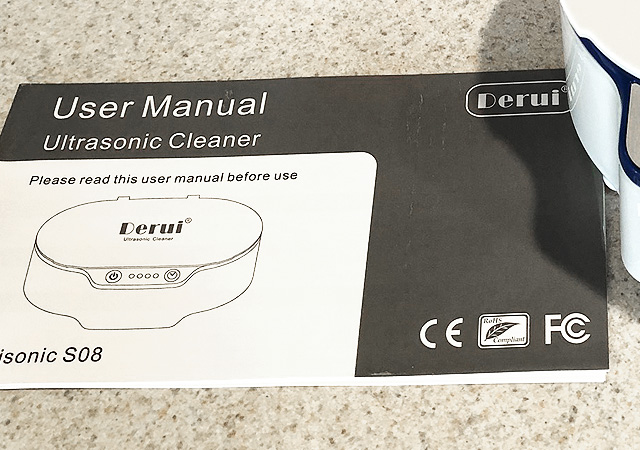 Jewelry Cleaner Comes With Easy To Read Instruction Booklet