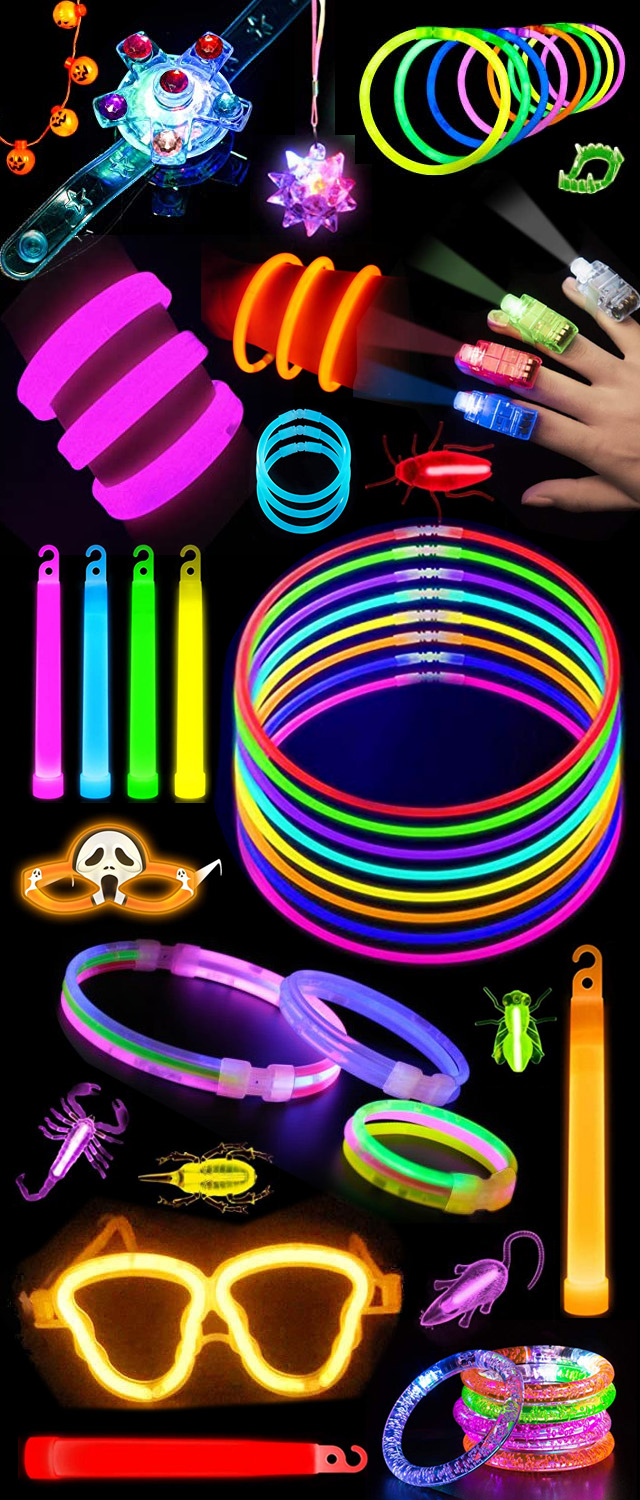 Safety Glow In The Dark Bracelets Necklaces Rings And More For Halloween 2019 Trick Or Treaters