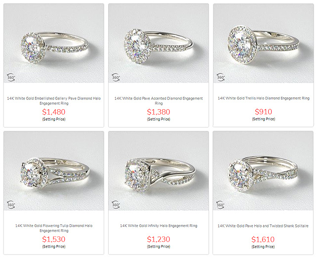 Halo Solitaire Mountings