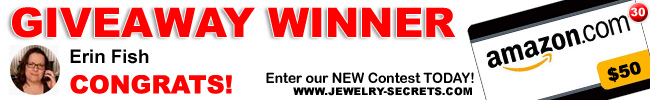 Jewelry Giveaway 30 Winner