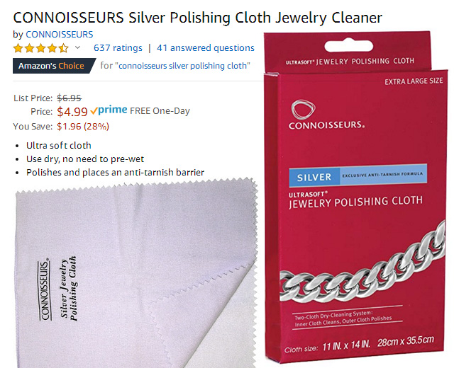The Best Selling Silver Polishing Cloth