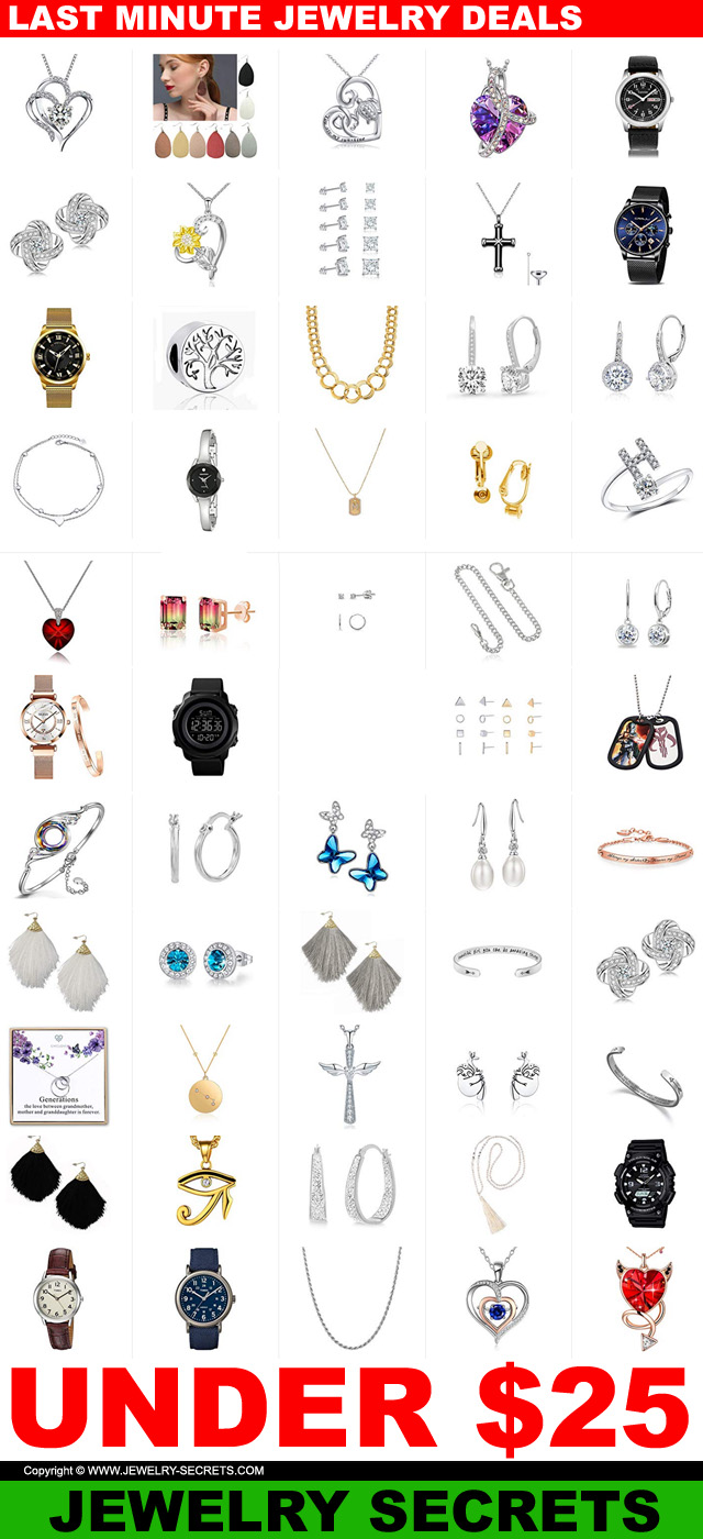 Last Minute Jewelry Christmas 2020 Deals Under 25 Dollars