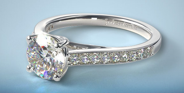 Ring In 2021 With This Pave Diamond Engagement Ring