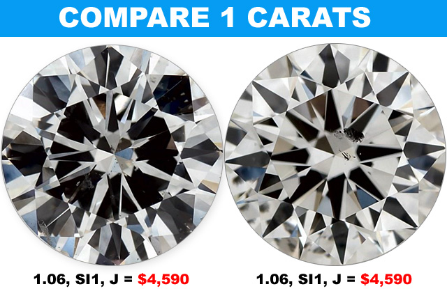 Compare 1 Carat Diamonds