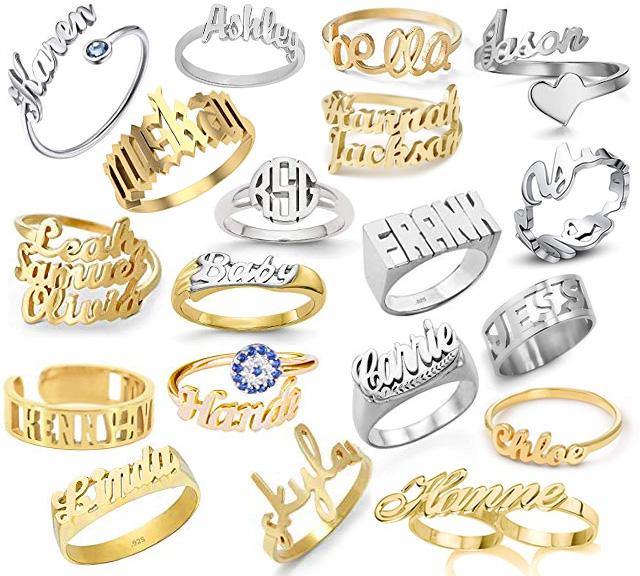 Custom Name Rings