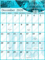 Free December Calendar 2020