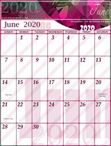 Free June Calendar 2020
