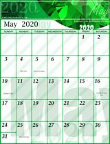 Free May Calendar 2020