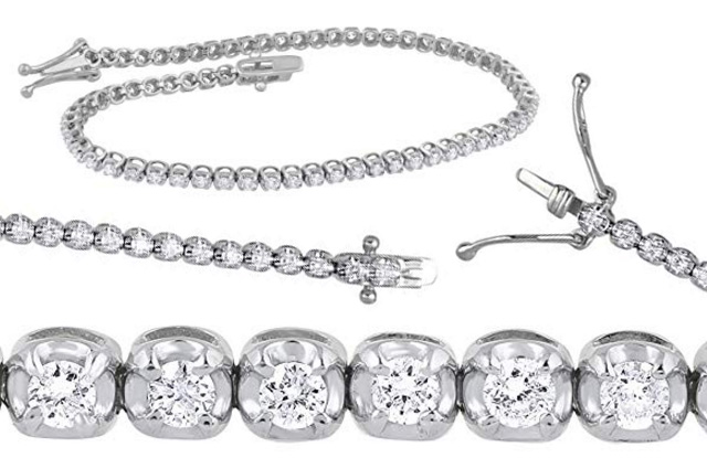 The Cheapest 1-00 Carat White Gold Diamond Tennis Bracelet On The Market