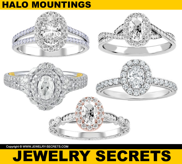 The Most Popular Engagement Ring Mounting Right Now