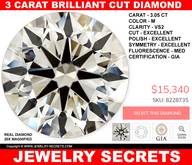 3 Carat Round Diamond Deal
