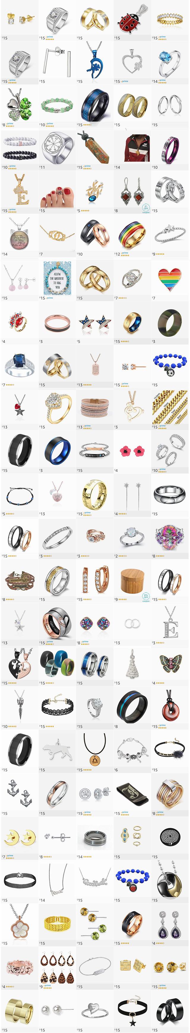 Cheap Jewelry Under Twenty Dollars