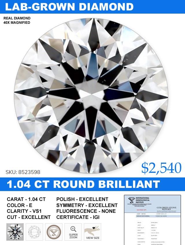 Lab Grown Diamond VS1 Price