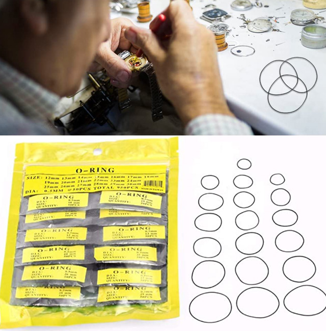 Wrist Watch O-RIng Rubber Seal Gasket Washer