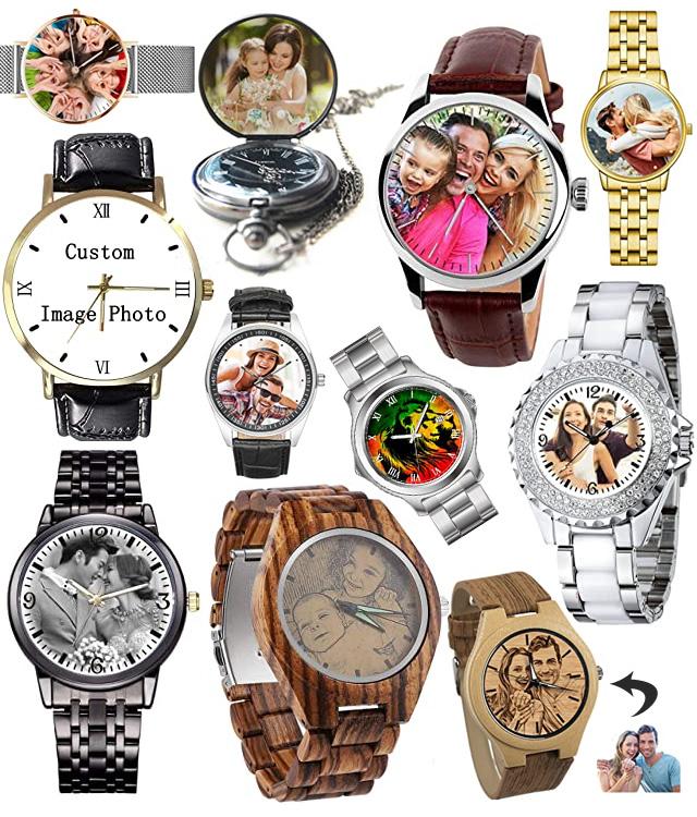 Custom Photo Image Wrist Watches
