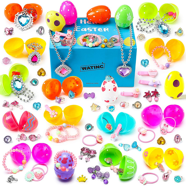 EASTER BASKET PRE-FILLED JEWELRY EGGS