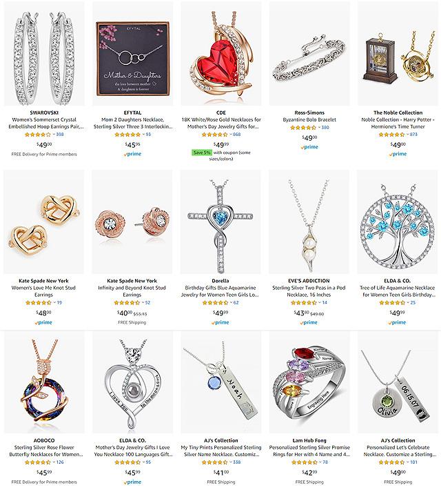 50 Dollar Jewelry On Amazon
