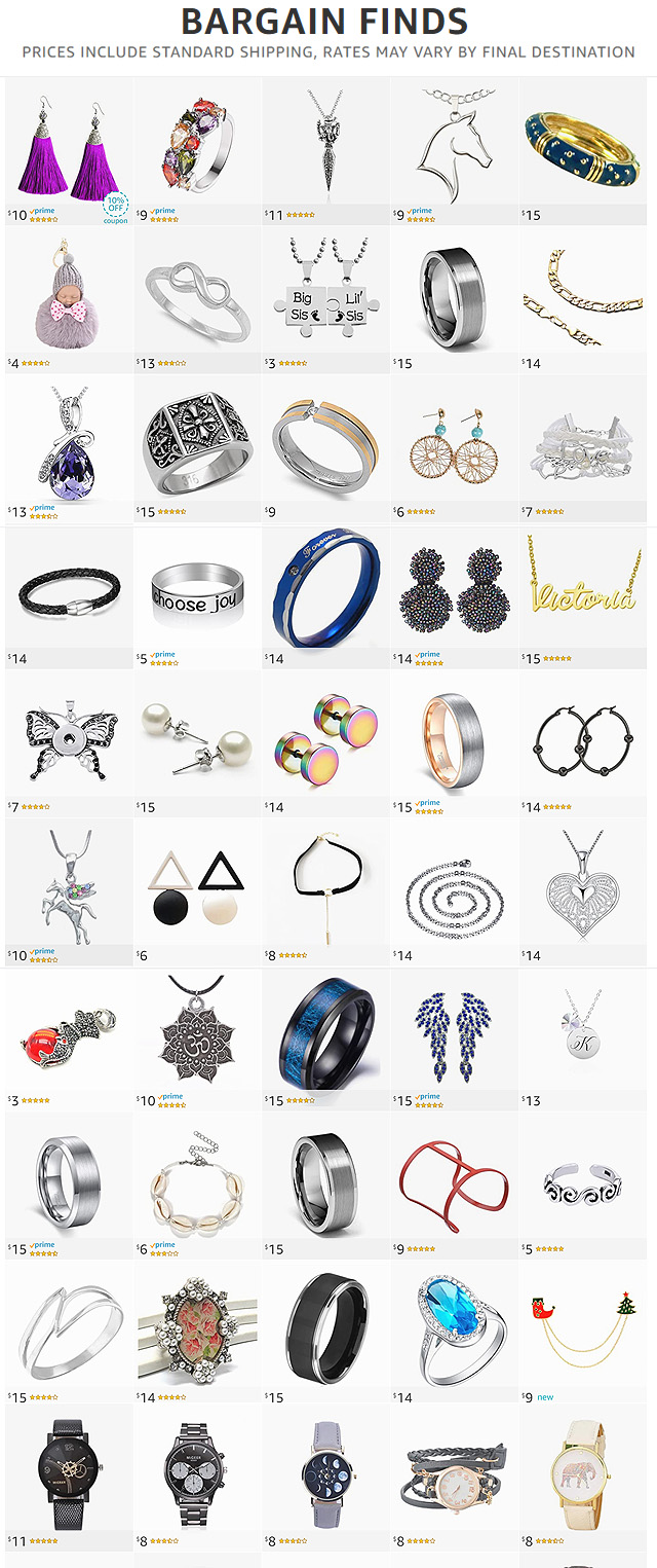 Bargain Jewelry Finds On Amazon