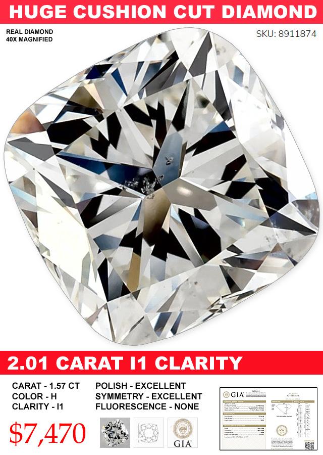 Big Beautiful And Cheap Cushion Cut Diamond Deal