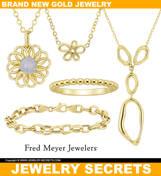 Brand New Gold Jewelry From Fred Meyer Jewelers