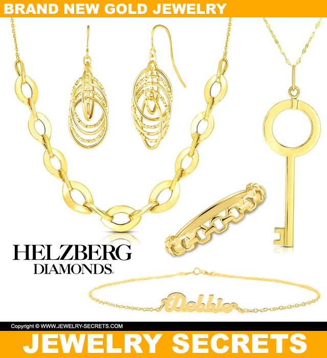 Brand New Gold Jewelry From Helzberg Jewelers