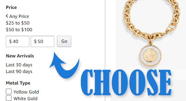 Choose Your Price Range On Amazon