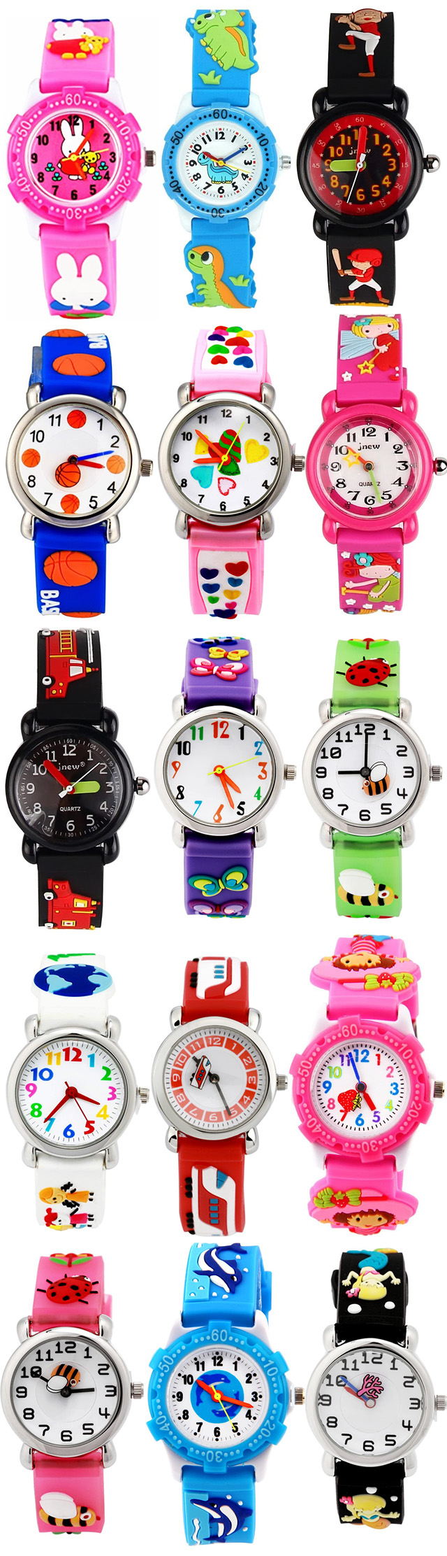 Kids Waterproof Wrist Watches Ages 2-10