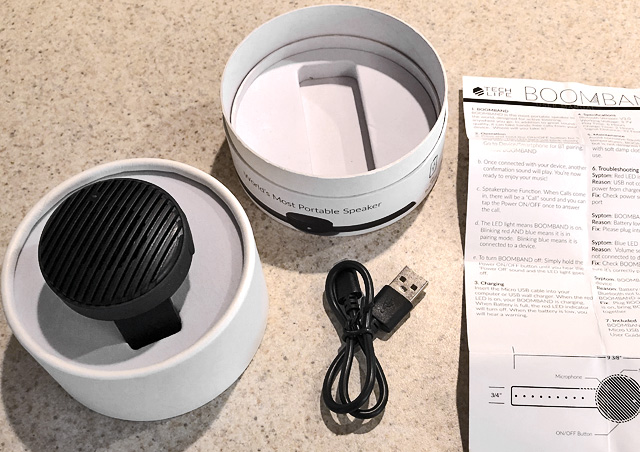 Boomband Opening Package Charging cord Instructions