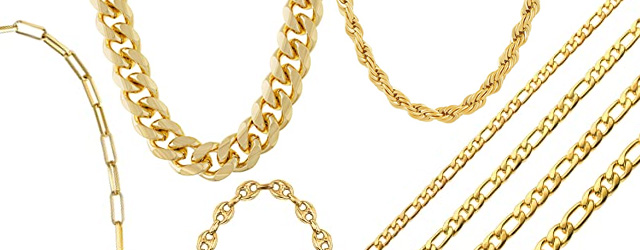 Gold Link Chains and Bracelets