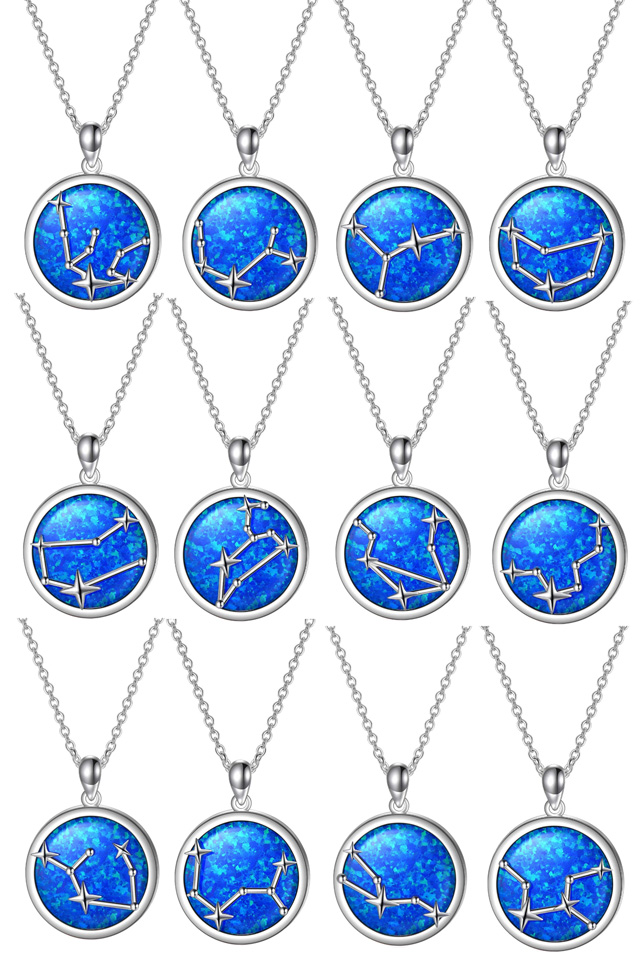 Sterling Silver Zodiac Necklaces