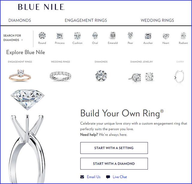 Blue Nile Website
