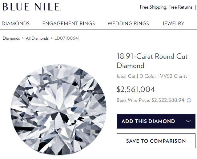 Blue Nile Biggest Diamond
