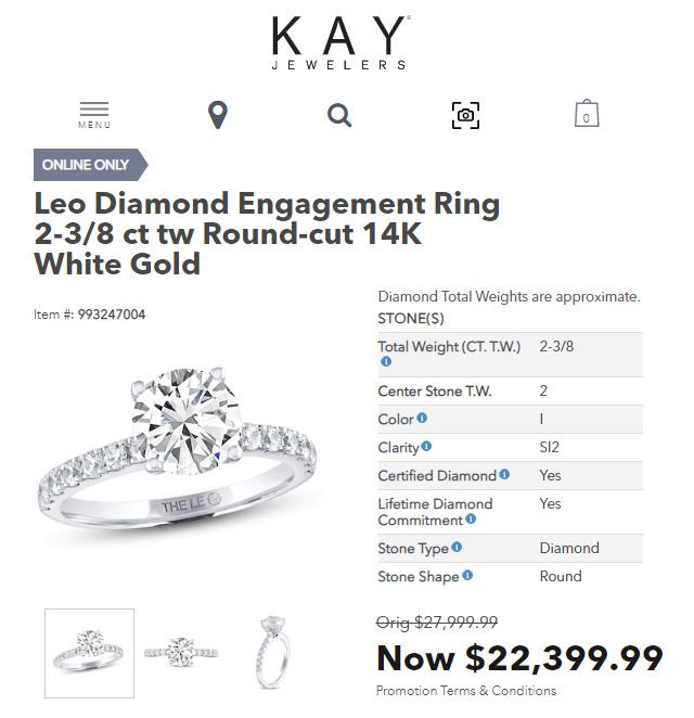 Kay Jewelers Biggest Diamond